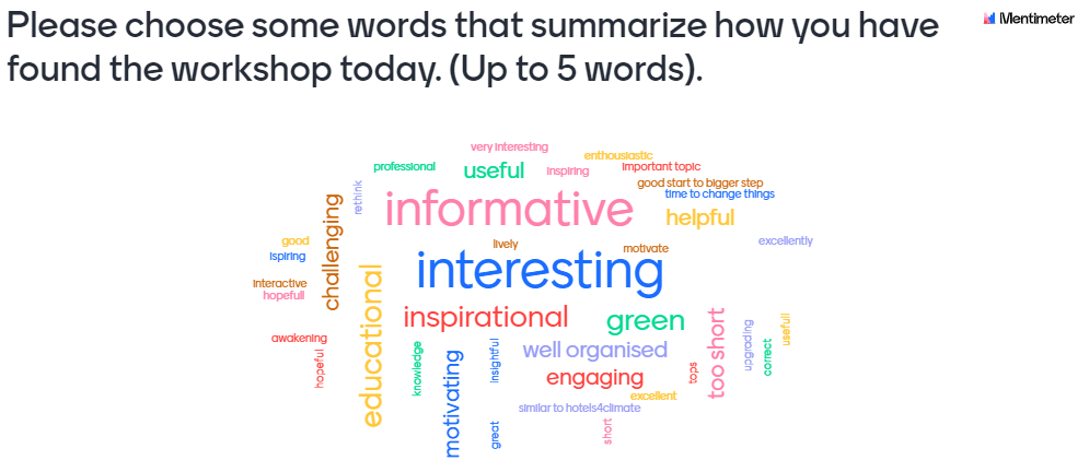 wordcloud from travelwithoutplastic seminar